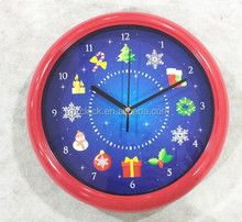 "10"" Novelty Musical Christmas Wall Clock Sing A Long Xmas 12 Songs Festive Music"