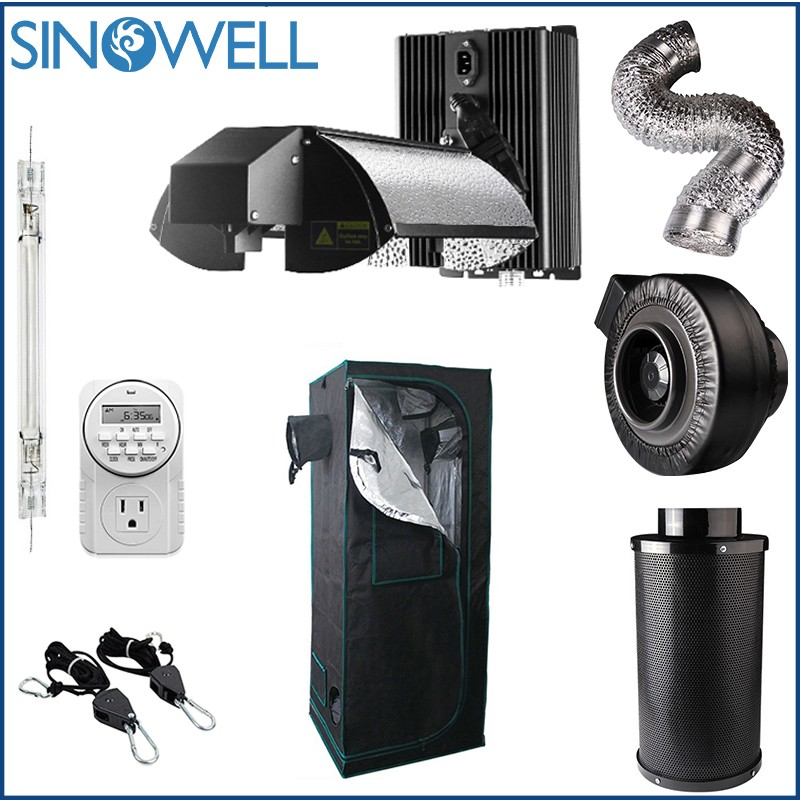 Industry Top Supplier SINOWELL Indoor Hydroponic Grow Tent Whole Set Complete Kit