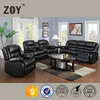 Bonded leather living room sectional sofa furniture recliner sofa set Zoy 9393F