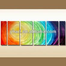 Handpainted abstract painting art Wall decoration metal embossing paintings