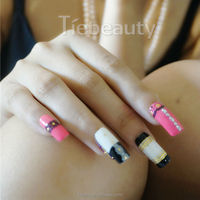 Alibaba hot selling product Black and Gold nails art sticker small lace nail art design