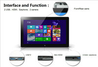 11.6 inch Windows 8 Tablet PC Laptop i3 3227U dual core 1.9 GHZ 4GB RAM 32GB SSD dual camera bluetooth win8 tablets