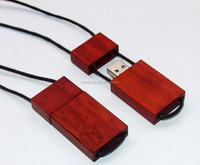 China manufacturer custom novelty necklace style wooden usb flash drive