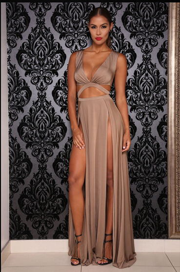 Adults Age Group Women's Long Dresses Party Gowns Evening Maxi Dress Sexy Club Dress