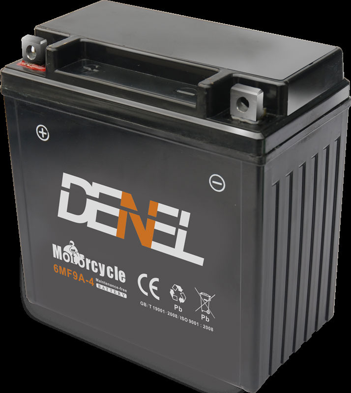 New technique 6MF9A-4 maintenance free Battery for motorcycle with best price