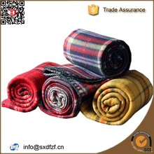China blanket factory 100% polyester custom made cheap super soft plaid polar fleece blanket