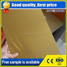 0.45mm brushed gold sublimation aluminum printing blank plate