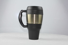 Vehicle use 750ML Double Wall pp outer and Stainless Steel inner Insulated Travelling Vehicle Coffee Mug