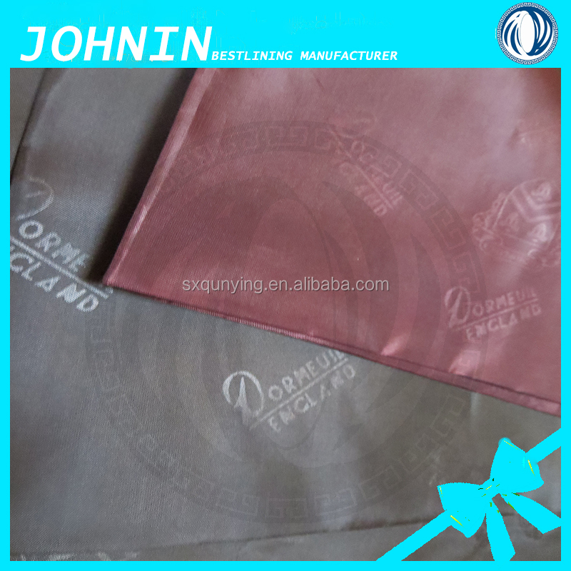 china manufacturer yarn dyed woven taffeta farbic 190T embossed taffeta fabric for suit lining