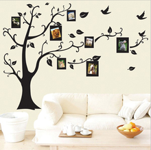 wholesale Sticker On The Wall Black Art Photo Frame Memory Tree Wall Stickers Home Decor Family Tree Wall Sticker