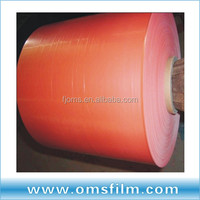 Electrostatic type of printable plastic film in sheets