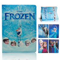Latest Cartoon Frozen Princess Elsa Flip Leather Stand Case for iPad 2/3/4