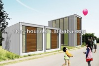 Economic relocatable homes light steel sandwich panel prefabricated houses