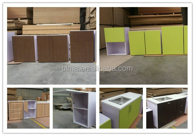 FSC Modern melamine laminate kitchen cabinet model with gloss finish kitchen cabinets door