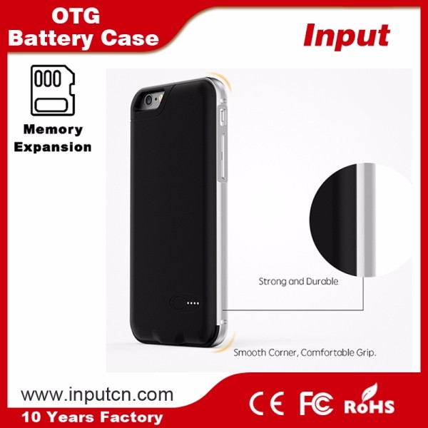Shenzhen Newest item Battery Case Ultra Slim Extended Charger Case for iPhone 6/6s Plus