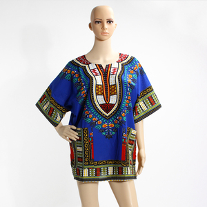 Bestway Lace Custom Unisex Dashiki Shirts Wholesale African Kitenge Shirts DT002