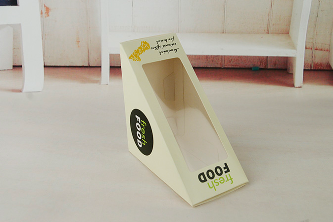 good price yellow triangle Cardboard Sandwich Boxes manufacturer Wholesale