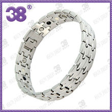 New OEM 3000guass 5 in 1 men friendship gold 7.8-8.5inch Genuine SS healthy high quality guangdong alibaba maginatic bracelet