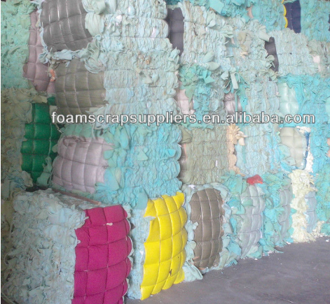 Waste and used pu scrap sponge foam