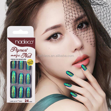 Nadeco jet fuel pigment acrylic stick one finger Cool girl long fake nails
