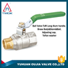 nickle plated full port valve ball 1/2 inch long level handle control valve export abord brass ball valve