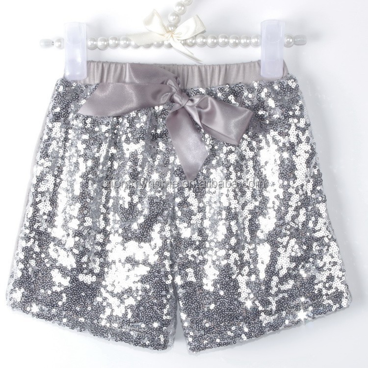 Wholesale 2015 new arrival boutique sequin shorts for children M5061816