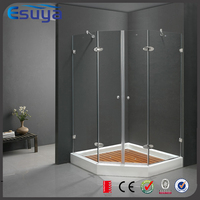 Golden supplier 8mm tempered glass hinge open shower panel, cabine douche