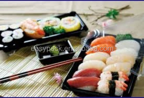 Food grade disposable plastic sushi tray