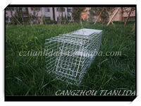 galvanized steel folding mice trap cage