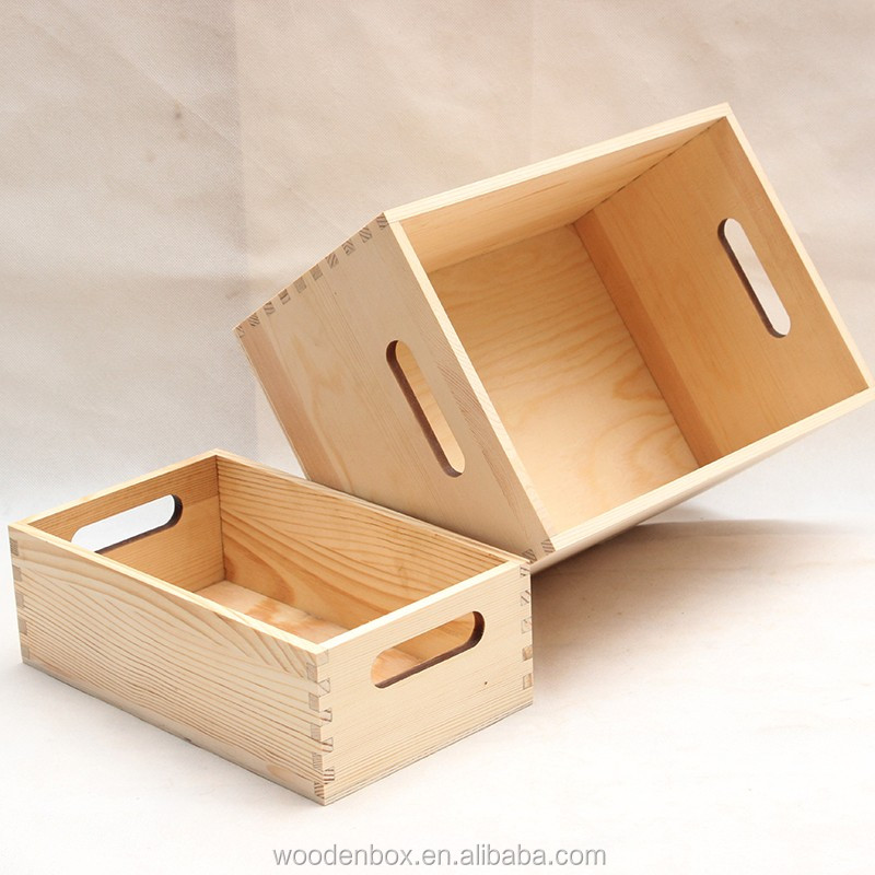 Oem Modern Fruit / Vegetable Crate / Wooden Storage Crate