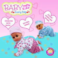 Crawling Baby Silicone Doll with IC