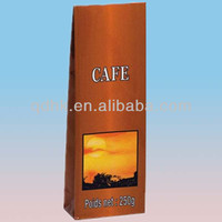 alibaba china manufacturer made side gusset square bottom kraft and plastic laminate coffee bag