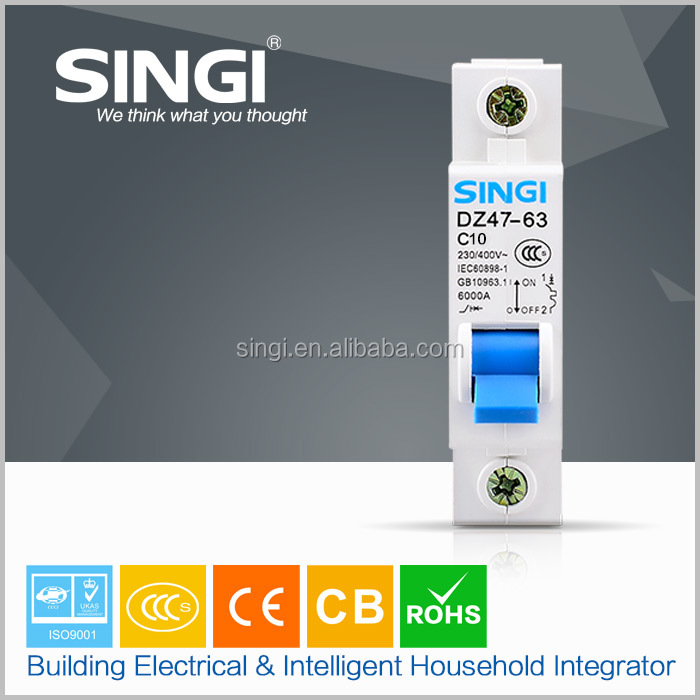 performance Small and exquisite house using blue 18mm 1p One mold forming miniature circuit breaker merlin gerin