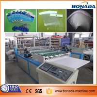 BOPP bag two side sealing and cutting machine/side sealing and cutting polythene plastic bag making machine