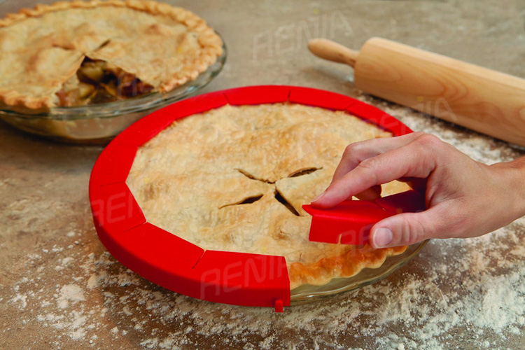 RENJIA adjustable silicone pie crust shield adjustable pie shield pie crust shield