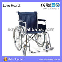 WAP TUV and FDA approved Heavy duty steel wheelchair