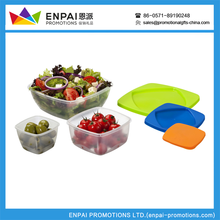 High quality 3pcs Set of plastic Food Container Food Storage Lunch Box Set