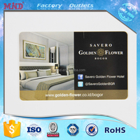 MDH90 credit card size contactless PVC hotel key RFID smart access card with magnetic strip