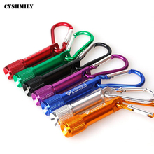 CYSHMILY Wholesale Aluminum Alloy Mini Carabiner Customize Logo Led Keychain Flashlight