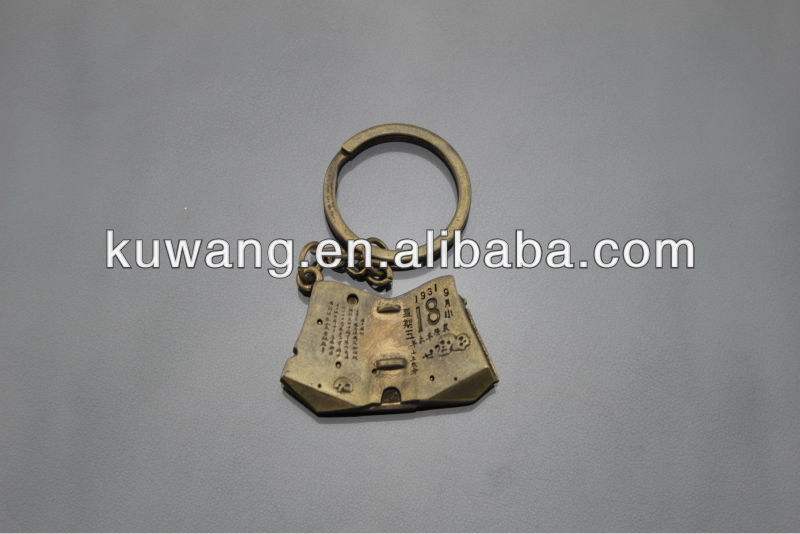 2013 fashion metal custom pewter keychain for promotion