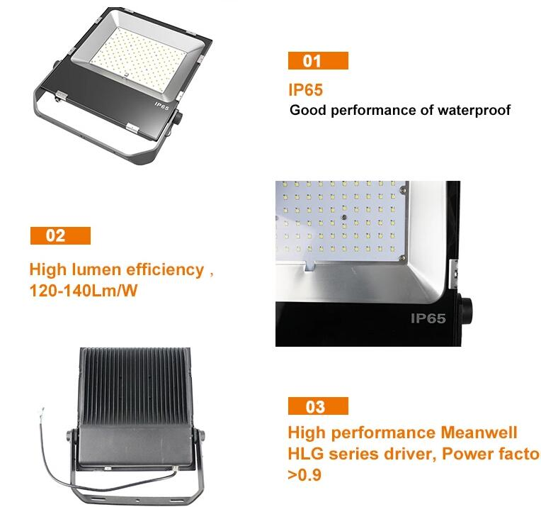 3030 led with meanwell driver high lumen 100w ultra slim led flood light