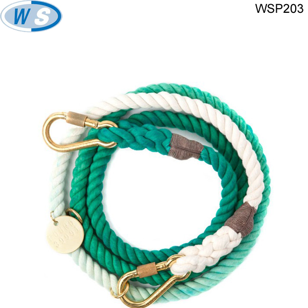 Various style surpreme cotton rope pet leash and collar