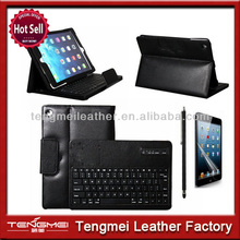 Leather Cover Case With Removable Bluetooth Keyboard For iPad Mini 2