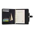 6 Rings Binder Credit Cards Slot Notebook with Magnetic Closure