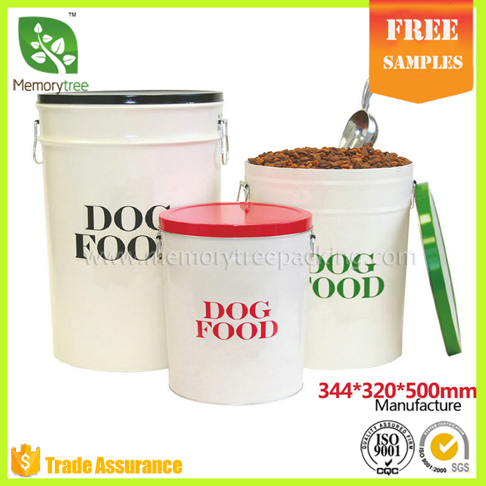 Hot sale new design dog food tin box dog storage box