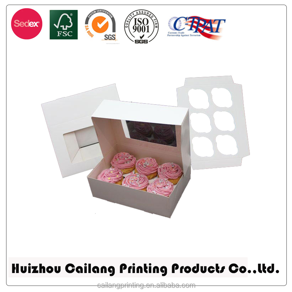 Wholesale cupcake box with insert