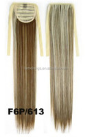 Ombre Colored Cosplay Long Straight Ponytails Synthetic Pony Tail