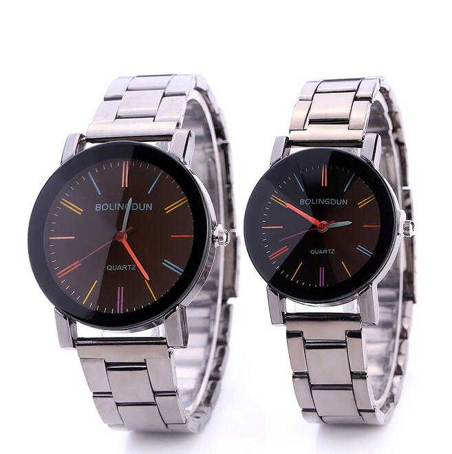 Good price metal strap fashion wrist watches men women