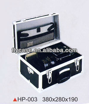 2015 Aluminum black carrying top quality handy universal video camera case at an affordable price