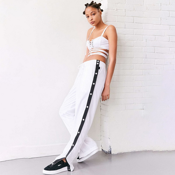 2017 New style hot sale cheap lady's wide leg waistline loose casual women long pants, womens casual pants